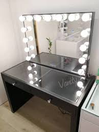 Beauty Station With Lights Pre Sale Clear Glass Top Beauty Station With 13 Drawers