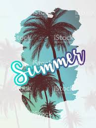 palm trees tumblr vertical. Summer California Tumblr Backgrounds Set With Palms, Sky And Sunset. Placard Poster Flyer Palm Trees Vertical