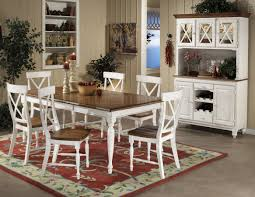Farmhouse Dining Table Sets Two Tone Dining Table Perfect Round Dining Table On Farmhouse