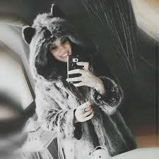 winter women fur jacket fur coat female panda ears hooded women faux fur coat black bear