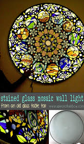 make stained glass mosaic wall light