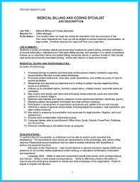 Billing Specialist Job Description Resume Some people are trying to get the billing specialist job If you're 1