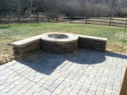 easy brick fire pit diy paver patio building pitswesomerticles simple backyard designs ideas inexpensive fire