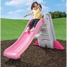 Amazon Com Step2 Big Folding Slide Pink Toys Games