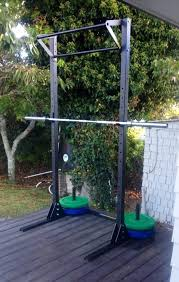 backyard pull up bar diy awesome free standing squat rack with pullup bar crossfit