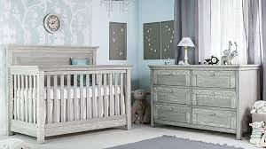 Karisma room setting with convertible crib in Smokey Cloud