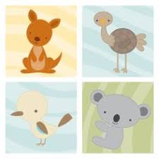 australian animal nursery prints and canvases bundle offer news from milly bee baby nursery cool bee animal