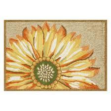 frontporch sunflower outdoor rug