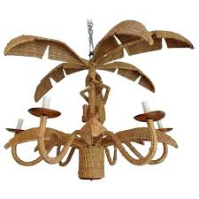 monkey chandelier palm tree chandelier unique woven palm tree and monkey chandelier at vintage monkey chandelier
