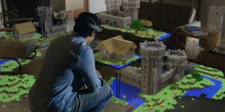 Minecraft Living Room Hologram Minecraft Takes Over Your Whole Living Room The Daily Dot