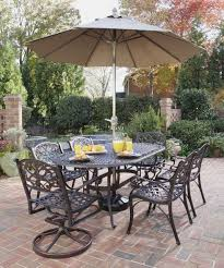 outdoor dining sets with umbrella. Incredible Outdoor Dining Room Design With Wrought Iron Table Ideas : Casual Sets Umbrella