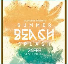 Beach Flyer Summer Beach Party Flyer Party Flyer Templates For Clubs Business