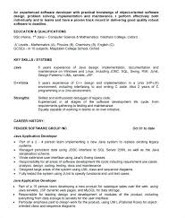 Sample Resume For Java Developer Java Resume Sample Java Developer