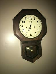 wall hanging pendulum clock wuersch vintage wood wall clock used wall hanging pendulum clock in