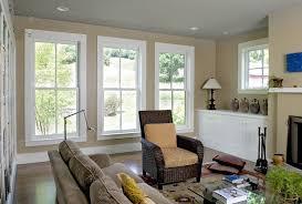 Window Molding Ideas Living Room Farmhouse With Corduroy Sofa Wood Trim