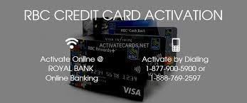 rbc card activation activate credit debit