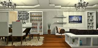 ... Living Room, Living Room Bar With Wooden Floor And Tv And Carpet And  Chair:
