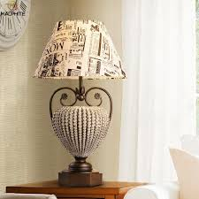 2019 nordic retro glass table lamp vintage fabric table lamps for bedroom deco lighting fixtures living room desk lamp luminaires from kaifeng001