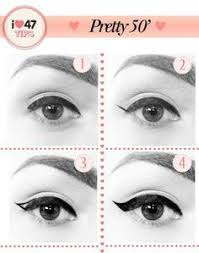 50s eyeliner vine makeup 1950 makeup 1950s hair and makeup diy 50s