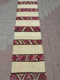 vintage turkish kilim runner rugs carpet runner 18 8 x107 hallway rug