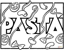Small Picture Italian Pasta coloring page Free Printable Coloring Pages