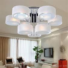 2018 modern acrylic glass led ceiling light 3 5 7 head lamp fashion living room lights bedroom lighting pendant lamps dia53cm 65cm 85cm downlight from ok360