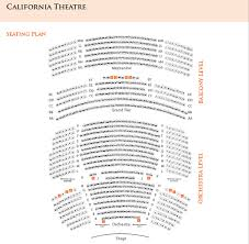 Paramount Theatre Oakland Ca Seating Chart Seating Charts San Jose Theaters