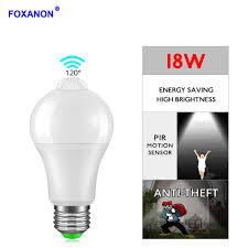 Day And Night Light Sensor Led Bulb Us 2 94 30 Off Foxanon E27 B22 Led Bulb 12w 18w Pir Sensor Lamp Dusk To Dawn Light Bulb Motion Sensor Lamp Day Night Light For Home Lighting In Led
