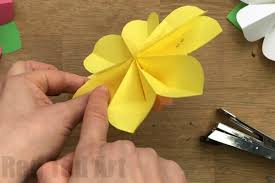 Paper Art Flower Easy 3d Paper Flowers For Spring Red Ted Arts Blog