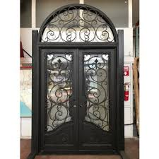 wrought iron front doorsDoor Designs Round Round top and luxury bronze entry iron door
