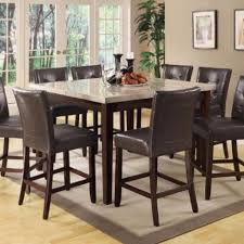 coaster dining room table and bar leather stools at bellagio furniture houston texas