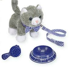 journey s playful pet cat grey and white toys r us in box pet accessory from