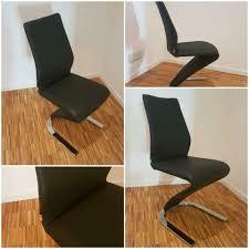 Freischwinger Xxl Lutz Stuhl 8 Stühle Xora 4 Schwarz Leder