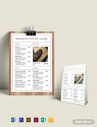 Simple French Menu Template Download Menus In Word Publisher