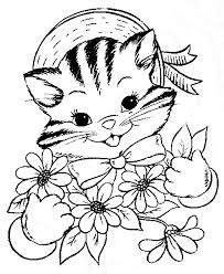 Small Picture Simple kitten color pages kitten and cat coloring sheets