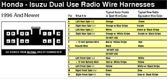 Wire Color Code Chart Car Stereo 2002 Isuzu Rodeo Radio Wiring Car Stereo Wire Colors Chart