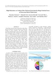 (PDF) High Resistance to <b>Carbon Fiber</b> Pull-out Generated by Huge ...