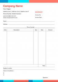 Bill Book Invoice Designs