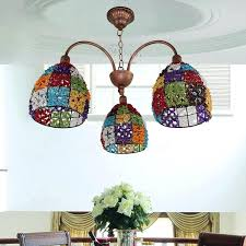 colored glass chandelier crystals