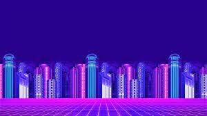 Neon City HD Wallpaper