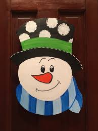 sold outsnowman door hanger