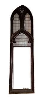 gothic church window with leaded glass