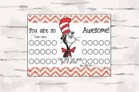 Cat In The Hat Punch Card Classroom Rewards Management