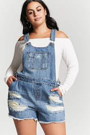 plus size overalls shorts plus size denim overall shorts forever 21