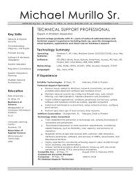 Technical Support Resume Examples Examples Of Resumes