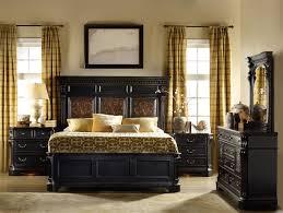 Telluride 6 Piece Bedroom Set in Distressed Black Finish by Hooker