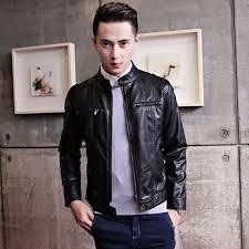 leather jacket men 2017 new motorcycle jackets mens short