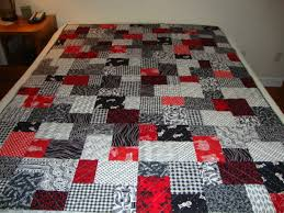 Black and White Double Slice Layer Cake Quilt &  Adamdwight.com