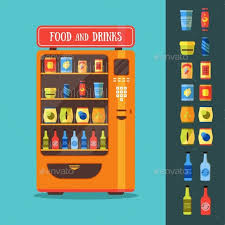 Vending Machine Food Fascinating Vending Machine With Food And Drink Packaging Set By Bigmouse48