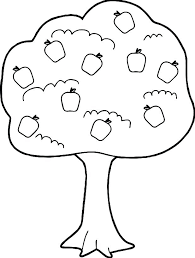 Free Autumn Tree Coloring Pages Fall Page Of Leaves New Apple